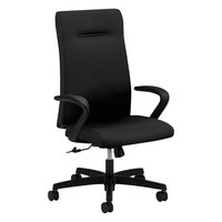 HON IE102CU10 Ignition Series High-Back Black Fabric Executive Office Chair