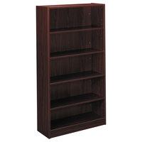 HON BL2194NN BL Laminate Series Mahogany 5-Shelf Bookcase - 32 inch x 13 13/16 inch x 65 3/8 inch