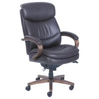 La-Z-Boy 48962B Woodbury High-Back Brown Leather Executive Office Chair