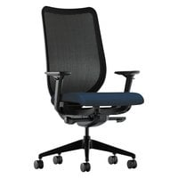 HON N103CU98 Nucleus Series Black / Navy Ilira-Stretch M4 Office Chair