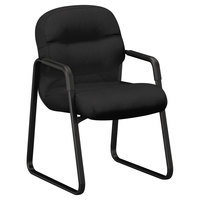 HON 2093CU10T 2090 Series Pillow-Soft Black Fabric Managerial Guest Chair
