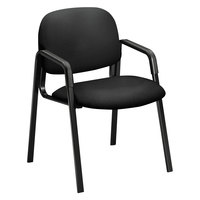 HON 4003CU10T 4000 Series Solutions Seating Black Fabric Guest Chair