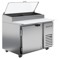 Beverage-Air DP46-CL 46 inch 1 Door Clear Lid Refrigerated Pizza Prep Table