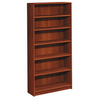 HON 1896CO 1890 Series Cognac 6-Shelf Bookcase - 36 inch x 11 1/2 inch x 72 5/8 inch