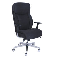 La-Z-Boy 48959 Commercial 2000 Black Leather Ergonomic Office Chair with Lumbar Support