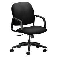 HON 4001CU10T 4000 Series Solutions Seating High-Back Black Fabric Executive Office Chair