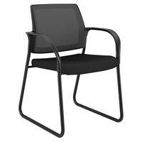HON IB108IMCU10 Ignition Series Black Ilira-Stretch Mesh Guest Chair