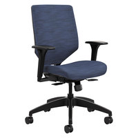 HON SVU1ACLC90TK Solve Series Midnight Fabric Upholstered ReActiv Back Task Chair
