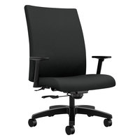 HON IW801CU10 Ignition Series Mid-Back Black Fabric Big and Tall Office Chair