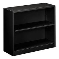 Alera ALEBCM22935BL 34 1/2 inch x 12 5/8 inch x 29 inch Black Steel 2-Shelf Bookcase