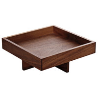 Playground 742890191000000 Ananti 7 3/4 inch Walnut Wood Square Medium Tray and Stand / Insert