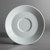 Schonwald 9406918 Connect 6 1/4 inch Continental White Porcelain Saucer - 12/Case