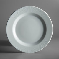 Schonwald 9400024-62987 Connect Radial 9 1/2 inch Continental White Porcelain Plate with Rim - 6/Case
