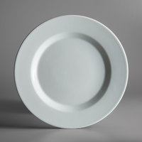 Schonwald 9400029-62987 Connect Radial 11 3/8 inch Continental White Porcelain Plate with Rim - 6/Case