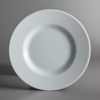 Schonwald 9400016-62987 Connect Radial 6 1/2 inch Continental White Porcelain Plate with Rim - 12/Case