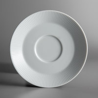 Schonwald 9406918-62987 Connect Radial 6 1/4 inch Continental White Porcelain Saucer - 12/Case