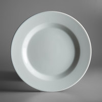 Schonwald 9400027-62987 Connect Radial 10 5/8 inch Continental White Porcelain Plate with Rim - 6/Case
