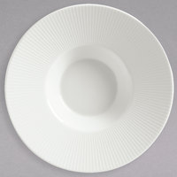 Schonwald 9400116 Connect 2.5 oz. Continental White Porcelain Gourmet Deep Plate with Rim - 12/Case