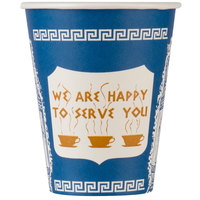 Dart Solo 378AN 8 oz. Anthora Poly Paper Hot Cup - 1000/Case