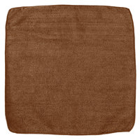 Rubbermaid 1863890 HYGEN Sanitizer Safe 12 inch x 12 inch Brown Microfiber Cloth   - 12/Pack