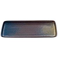 Playground 701213691000351 Sea 14 1/4 inch x 6 1/4 inch Deep Rectangular Platter - 2/Case