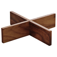 Playground 742880491000000 Ananti 7 1/8 inch Walnut Wood Square Tray Stand / Insert - 2/Case
