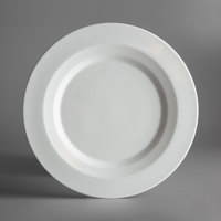 Schonwald 9120031 Allure 12 3/8 inch Bone White Porcelain Plate with Rim - 6/Case