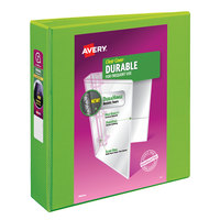 Avery 17838 Green Durable View Binder with 2 inch Slant Rings