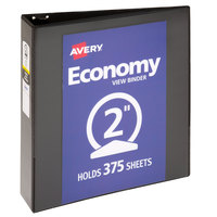 Avery 05781 Black Economy View Binder with 2 inch Round Rings