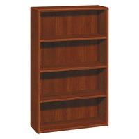 HON 10754CO 10700 Series Cognac Wood 4-Shelf Bookcase - 36 inch x 13 1/8 inch x 57 1/8 inch