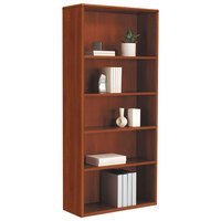 HON 107569CO 10700 Series Cognac 5-Shelf Bookcase - 32 3/8 inch x 13 1/8 inch x 71 inch