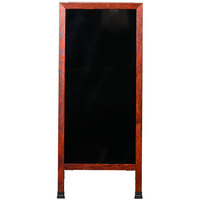 Aarco MA-311 42 inch x 18 inch Cherry A-Frame Sign Board with Black Marker Board