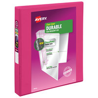 Avery 17830 Pink Durable View Binder with 1 inch Slant Rings
