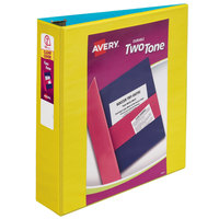 Avery 17236 Two-Tone Assorted Color View Binder with 2 inch Slant Rings - 6/Case