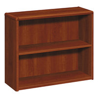 HON 10752CO 10700 Series Cognac Wood 2-Shelf Bookcase - 36 inch x 13 1/8 inch x 29 5/8 inch