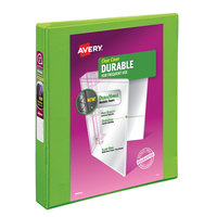 Avery 17832 Green Durable View Binder with 1 inch Slant Rings