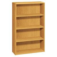 HON 10754CC 10700 Series Harvest Wood 4-Shelf Bookcase - 36 inch x 13 1/8 inch x 57 1/8 inch