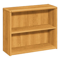 HON 10752CC 10700 Series Harvest Wood 2-Shelf Bookcase - 36 inch x 13 1/8 inch x 29 5/8 inch