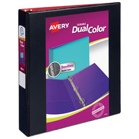 Avery 17210 Dual Color Assorted Color Durable View Binder with 1 1/2 inch Slant Rings - 12/Case