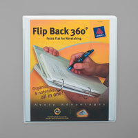 Avery 17560 Flip Back 360 Degrees White Economy View Binder with 1 inch Round Rings