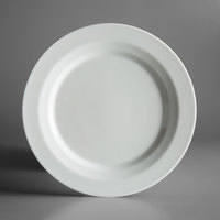 Schonwald 9120026 Allure 10 1/4 inch Bone White Porcelain Plate with Rim - 6/Case