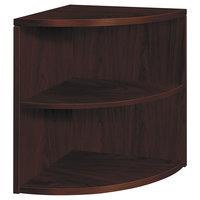 HON 105520NN 10500 Series Mahogany 2-Shelf End Cap Bookcase - 24 inch x 24 inch x 29 1/2 inch