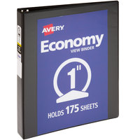 Avery 05761 Black Economy View Binder with 1 inch Round Rings