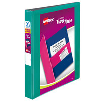 Avery 17191 Two-Tone Assorted Color Durable View Binder with 1 inch Slant Rings   - 12/Case