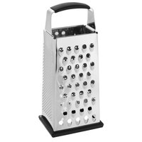 Choice 9 inch 4-Sided Stainless Steel Box Grater with Soft Grip