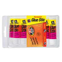 Avery 98089 Glue Stic 0.26 oz. White Washable Nontoxic Permanent Adhesive Value Pack - 18/Pack