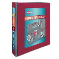 Avery 79713 Ultralast Red View Binder with 1 1/2 inch Non-Locking One Touch Slant Rings