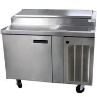 Delfield 18648PTBM 48 inch One Door Refrigerated Pizza Prep Table