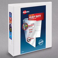 Avery 79792 White Heavy-Duty View Binder with 2 inch Locking One Touch Slant Rings