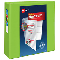 Avery 79812 Chartreuse Heavy-Duty View Binder with 4 inch Locking One Touch EZD Rings